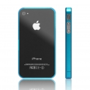 Sideline Bumper for iPhone 4 clear light blue